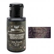 Liquid Acrylic - Finnabair Art Alchemy - Ink Black - 30 ml