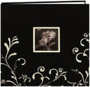 "Album 12""x12"" Pioneer - Scroll Embroidery Fabric - Black White"