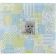 "Album 12""x12"" MBI - Baby Boy Patch Cover Blue - Post Bound"