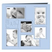 "Album 12""x12"" Pioneer - Sewn Embossed Collage Frame - Baby Boy"