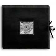 "D-Ring Album Box - Black 12""x12"" - Pioneer 3-Ring Sewn Leatherette Scrapbooking Album"