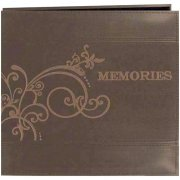 "Album 12""x12"" Pioneer - Scroll Embroidery Leatherette - Brown"