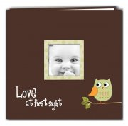 "Album 12""x12"" Pioneer - Baby Owl Printed Design - Green"