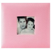 "Album MBI - Fashion Fabric Post Bound 8""X8"" - Pink"