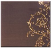 "Album 12""x12"" - Embroidered Memory album - BROWN"