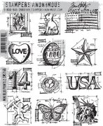 "Cling Stamp Tim Holtz - Mini Blueprints - 7""X8.5"""
