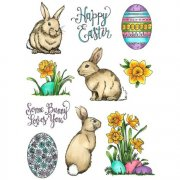 Art Gone Wild Cling Stamps - Daffodil Bunnies