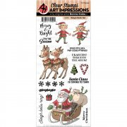 Art Impressions Clear Stamps - Sleigh Bells