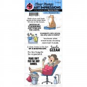 Art Impressions Clear Stamps Set - Housework