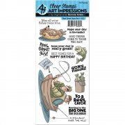 Art Impressions Clear Stamps Set - Reel Great Guys