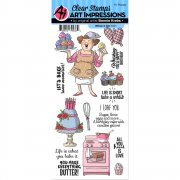Art Impressions Clear Stamps Set - Whisk It