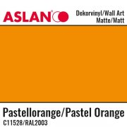 Vinyl Matt - Aslan Folie - 32 x 100 cm - Pastel Orange