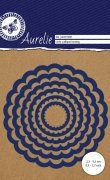 Aurelie Dies - Circle Scalloped Nesting Die - 6 st