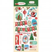 "Chipboard Stickers 13""x6"" - Carta Bella - A Very Merry Christmas"