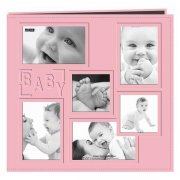"Album 12""x12"" Pioneer - Sewn Embossed Collage Frame - Baby Girl"