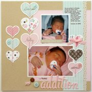 Sweet Baby Girl - Chipboard Accents - Echo Park
