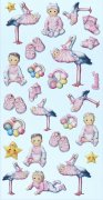 Softy Stickers 3D - Baby Girl II