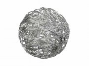 Charms 2 st - Silver Wire ball - 15 x 15 mm