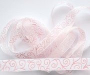 Band Swirl - White with Pink