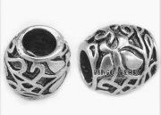 Metall Pärla 5 st - Runda Spacer Beads Swirls
