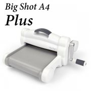 Sizzix Big Shot Plus A4 - White & Grey - Fraktfri