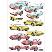 3D-Kort Decoupage - Cars