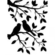 Embossing Folder - Birds In Branches