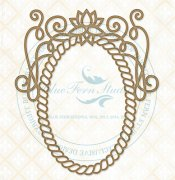 Chipboard Ram - Braided Gem Frame - 14 x 11.5 cm
