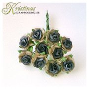 Mulberry Rose - 10 mm - Blue Grey Two Tone