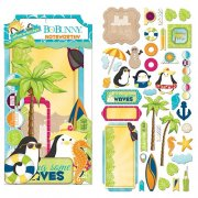 Die Cuts Noteworthy - Make A Splash 45 delar - Bo Bunny