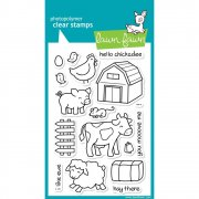 "Clear Stamps 4""X6"" - Lawn Fawn - Critters On The Farm - Bondgård"