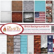Paper Kit 12x12 - Ella & Viv - Brick Backgrounds