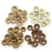 Öljetter Eyelets 60-pack - Brun Mix - Hål 5 mm