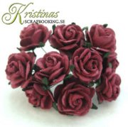 Mulberry Rose - 20 mm - Burgundy