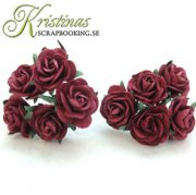 Mulberry Rose - 25 mm - Burgundy