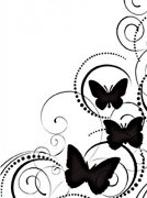 Embossing Folder - Butterfly Swirl