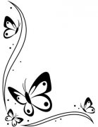 Utgår! Embossing Folder - Butterflies In Corner