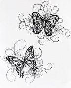 Cling Rubber Stamp - Butterfly Medley