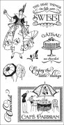 Graphic 45 Cling Stamps - Cafe Parisian - #1