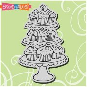 Cling Rubber Stamp - Cupcake Tiers - Stampendous