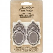Cameo Frames 4 st - Tim Holtz Idea-Ology - Antique Nickel