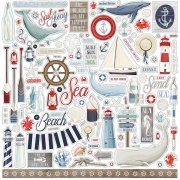 Cardstock Stickers Carta Bella - By the Sea
