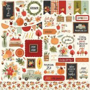 Cardstock Stickers Carta Bella - Hello Autumn - 12x12 Tum