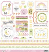 Cardstock Stickers Doodlebug - Bundle of Joy - 12x12 Tum