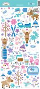 Cardstock Stickers Doodlebug - Winter Wonderland - 12x6 Tum