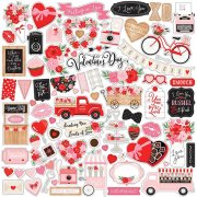 Cardstock Stickers Echo Park - Cupid & Co. - 12x12 Tum