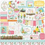 Cardstock Stickers Echo Park - I Love Spring