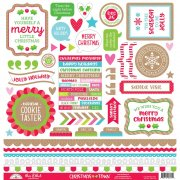 Cardstock Stickers Doodlebug - Christmas Town This & That