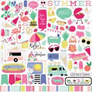Cardstock Stickers Echo Park - Best Summer Ever