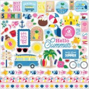 Cardstock Stickers Echo Park - I Love Summer